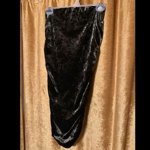 High wasted crushed velvet sexy ruched skirt